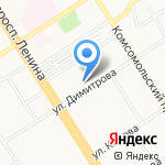 Центральный переговорный пункт на карте Барнаула