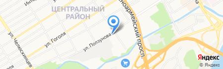 ГСУ на карте Барнаула
