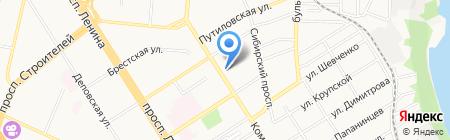 Мэйпл на карте Барнаула