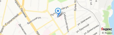 У бани на карте Барнаула