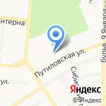 Алтайкоммунпроект на карте Барнаула