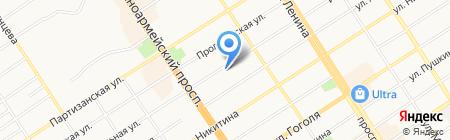 Алтайский дом аудита на карте Барнаула