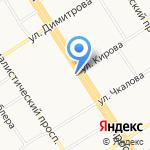Профи на карте Барнаула