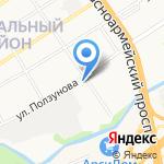 Отдельный батальон охраны и конвоирования подозреваемых и обвиняемых при УМВД России по г. Барнаулу на карте Барнаула