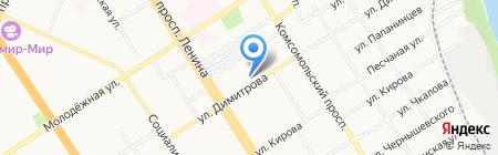 Ростелеком на карте Барнаула