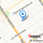 Творческая мастерская архитектора Анисифорова П.И. на карте Барнаула