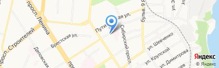 ААШС-АвтоАргонШинСервис на карте Барнаула