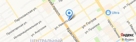 Жара на карте Барнаула