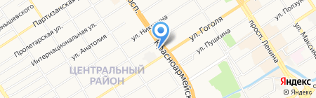 Стройград на карте Барнаула