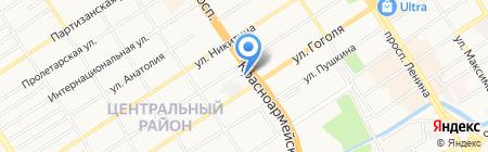 Марта на карте Барнаула