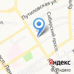 Почтовое отделение №38 на карте Барнаула