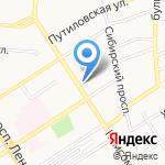 Почта Банк на карте Барнаула