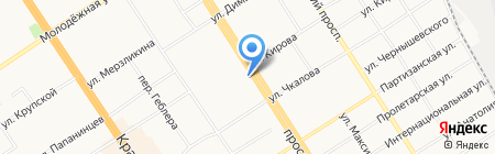 Банк ВТБ 24 на карте Барнаула