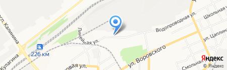 Швед на карте Барнаула
