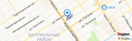 Алтайское отдельское казачье общество на карте Барнаула