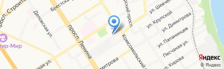 Оптика-Сервис на карте Барнаула