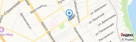Территориальное Управление Федерального агентства по управлению государственным имуществом в Алтайском крае на карте Барнаула