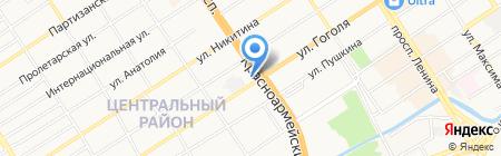 Гласслайн на карте Барнаула