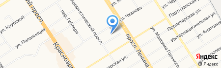 Ломбард на Чкалова на карте Барнаула