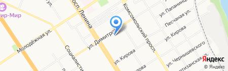 Институт развития дополнительного профессионального образования на карте Барнаула