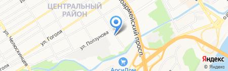 Изолятор временного содержания подозреваемых и обвиняемых на карте Барнаула