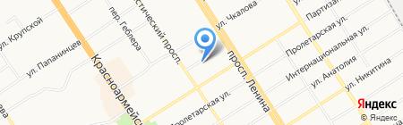 Девайт на карте Барнаула