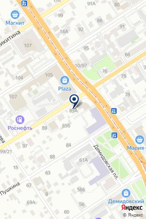 АЗС ВОЛЬХИН А.Ф. на карте Барнаула