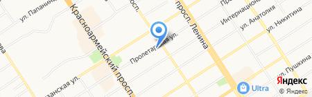 Камелия на карте Барнаула