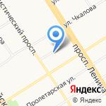 Сапсан Плюс на карте Барнаула