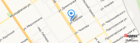 Аптека №1 на карте Барнаула