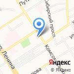 Вьюга на карте Барнаула