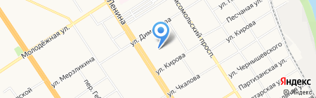 Типография на карте Барнаула