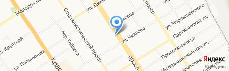 Алтайский лен на карте Барнаула