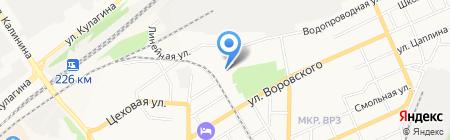 ЖЭУ №8 на карте Барнаула