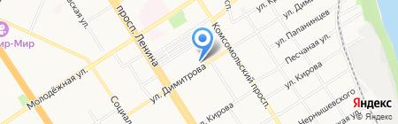 Дубай на карте Барнаула