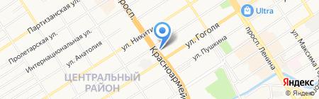 Банк ВТБ на карте Барнаула