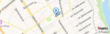 Интермедсервис-Сибирь на карте Барнаула