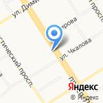 Модница на карте Барнаула