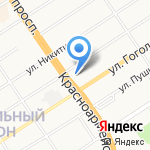 Демидовский на карте Барнаула