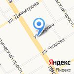 КБ Восточный на карте Барнаула