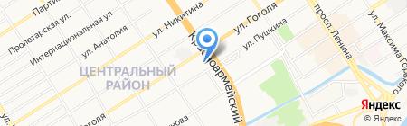 Золотая долина на карте Барнаула