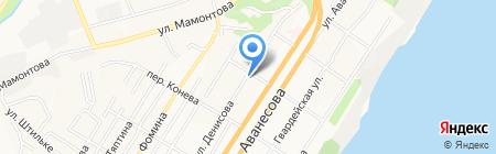 Пирюза на карте Барнаула