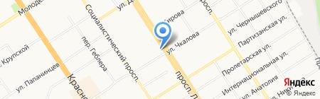 Единая Россия на карте Барнаула