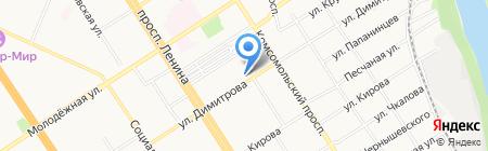 Пельмешка на карте Барнаула