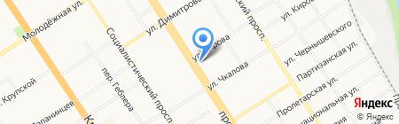 Магазин безглютенового питания на карте Барнаула