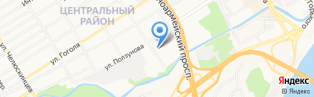 Арболит на карте Барнаула