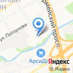 Алтайкомплекс на карте Барнаула