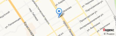 Поталь на карте Барнаула