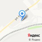 Авто-караван на карте Барнаула