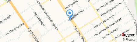 Le Fabric на карте Барнаула